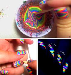 She Poured Nail Polish Into Water. The End Result I Need To Try This!