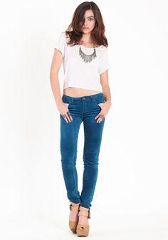 Gone Away Velvet Pants in Teal #threadsence #fashion