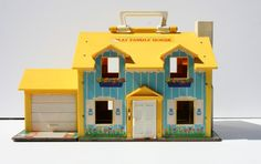 Vintage 1969 Fisher Price Play House Doll House Model by Modnique Fisher Price Doll House, Fisher Price Toys, Vintage Fisher Price, My Childhood Memories, Childhood Toys, Sweet Memories, Nostalgia, Retro Toys, Vintage Toys