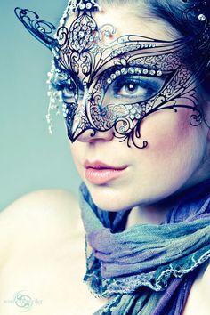 stunning intricate mask