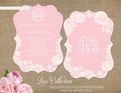Ornate Die-Cut Lace Invitations for Any by AnnaHatcherDesign