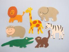 Flannel Friday: Safari Animals - RovingFiddlehead KidLit