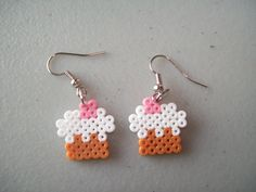 Hama mini cupcake earrings