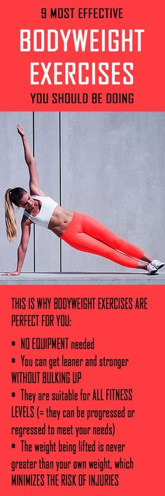 9 MOST EFFECTIVE BODYWEIGHT EXERCISES you should be doing. #bodyweight #fullbodyworkout #noequipmentworkout #weightloss #totalbodyworkout #fatburn #weightloss