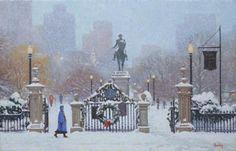 Arlington Street Gate in Winter at massbaytrading.com