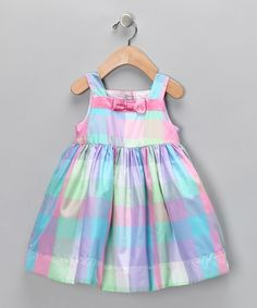 Take a look at this Pink & Blue Pastel Plaid Dress - Toddler  by Samara on #zulily today!