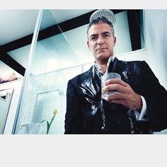 SHOWER !!! #GeorgeClooney photographed by @mario_sorrenti_2 and I for @wmag 2011 xoxo
