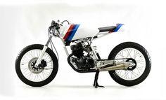 Float like a butterfly, sting like a bee. 1990 Honda CB125TT RS by Steel Bent Customs
