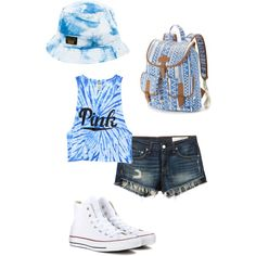 Amusement Park Outfit♡ by bentleykalena on Polyvore featuring polyvore, fashion, style, Victoria's Secret PINK, rag & bone/JEAN, Converse, Candie's and 10.Deep