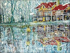 Another Peter Doig, this picture makes me want to be there, (a home).
