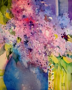 watercolor collage by Ruth Hayes