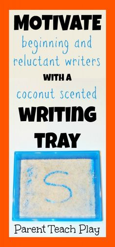Coconut Scented Writing Tray for Kids