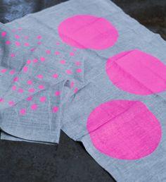 polka dot tea towels