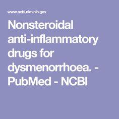Nonsteroidal anti-inflammatory drugs for dysmenorrhoea. - PubMed - NCBI
