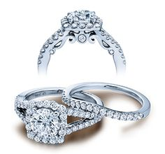 INSIGNIA-7046 engagement ring from the Insignia Collection, featuring 0.65 ctw. of shared-prong set round brilliant diamonds to enhance a round diamond center.  Available in Gold or Platinum.