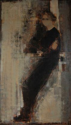 ► Catherine Sévérac: portraits: être - 195x114 - huile sur toile