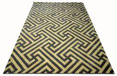 "A custom hand tufted pure wool rug. It has a pile depth of 15-18mm. Created using the ""Academy"" design. #CustomRugRoom"
