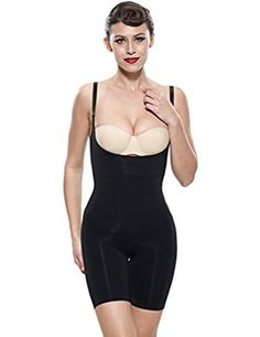 9acad11dd5f96 Franato Womens Firm Control Slimming Bodysuit Shapewear Large Black      Check this awesome product by going to the link at the image.