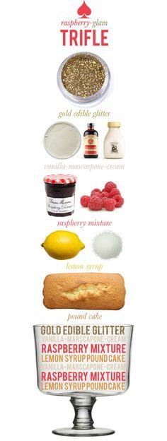raspberry-glam trifle