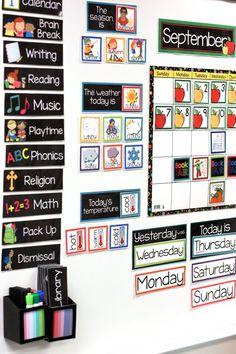 Teaching with My Classroom Calendar kindergarten classroom calendar classroom classroom calendar Kindergarten Lesson Plans, Calendar Time Kindergarten, Kindergarten Classroom Layout, Prek Calendar Time, Year 3 Classroom Ideas, Classroom Checklist, Morning Calendar, Ks1 Classroom, Classroom Seats