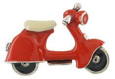 'TARACHOU' scooter brooch