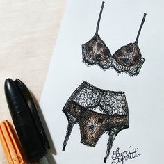 "256 Likes, 4 Comments - Tainá Saporetti  (@tainasaporetti) on Instagram: "" #draw #drawing #fashion #love #inlove #fashionillustration #illustration #lingerie #intimates…"""