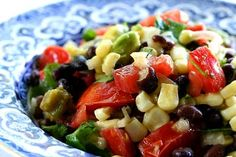 Black Bean Salad recipe from Simply Recipes. Ingredients: 1 ounce) can of black beans, thoroughly rinsed, and drained (or 1 cup of freshly cooked black beans), 1 cups. Black Bean Salad Recipe, Bean Salad Recipes, Bean Salads, Simply Recipes, Great Recipes, Favorite Recipes, Amazing Recipes, Vegetarian Recipes, Cooking Recipes