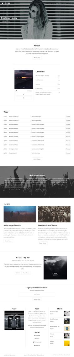 Peak is beautiful responsive WordPress Theme for Music, #Musician and #Band #website. Download Now!