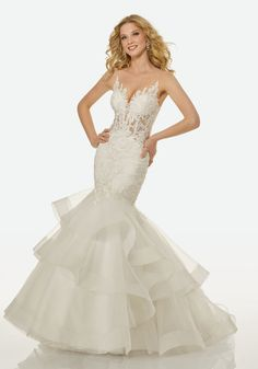 Lace Wedding Dress, Fascinating Tulle Sheer Jewel Neckline Mermaid Wedding Dress With Beadings & Lace Appliques Ftw Bridal UK, , Lace Wedding Dress, Princess Wedding Dresses, Dream Wedding Dresses, Bridal Dresses, Prom Dresses, Wedding Gown Preservation, Bella Bridal, Mermaid Dresses, Mermaid Skirt
