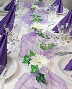 Komplette Tischdeko in lila für Kommunion/Konfirmation/Taufe etcr.