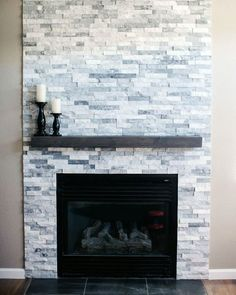 Best Photo small Fireplace Remodel Tips Good Totally Free stone Fireplace Makeover Ideas Right now there are a great dea…, Stone Fireplace Decor, Stone Fireplace Makeover, Stone Fireplace Surround, Stacked Stone Fireplaces, Small Fireplace, Farmhouse Fireplace, Home Fireplace, Fireplace Remodel, Modern Fireplace