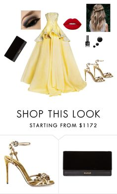 """""""Bez naslova #84"""" by mirela-876 ❤ liked on Polyvore featuring Dolce&Gabbana, Balmain and Lime Crime"""