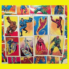 Lot of 108 marvel #super hero #french sticker cards 1980 unused #fantastic four+ ,  View more on the LINK: 	http://www.zeppy.io/product/gb/2/121754332583/