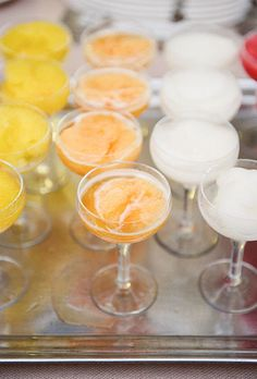 Wedding reception dessert idea - Italian granitas  (Photo: Kate Headley)