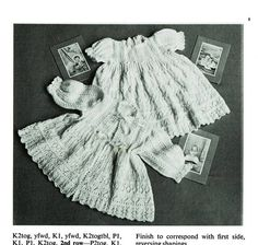 Items similar to PDF Vintage Baby Christening Dress Knitting Pattern Robe Heirloom Intricate Lace Regency Medieval Victoriana Doll Patons 1476 Fairytale on Etsy Baby Patterns, Knitting Patterns, Crochet Patterns, Vintage Knitting, Baby Knitting, Baby Christening Dress, Baby Cardigan, Antique Dolls, Regency