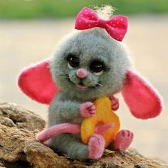 Cute Needle felting wool animals cute mouse(Via @valyanie_odessa)