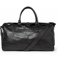 Squash creased-leather holdall bag. Perfect weekend/gym bag.
