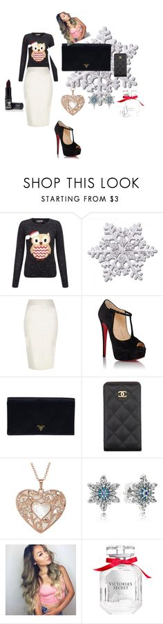 """zipimkopo"" by amilapolygirl-239 ❤ liked on Polyvore featuring beauty, Lipsy, River Island, Christian Louboutin, Prada, Chanel, Pandora, Victoria's Secret and Manic Panic"