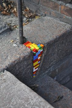 LEGO street art by Jan Vormann