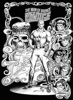 Doc Savage Splash Page by Marie Severin & Tony DeZuniga
