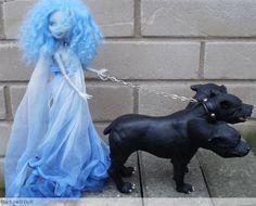 monster high custom doll, daughter of hades by Rach-Hells-Dollhaus.deviantart.com on @deviantART