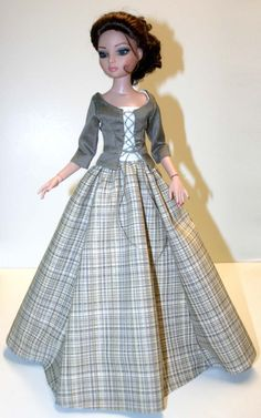 """Outlander Scottish Claire Outift for 16"""" Ellowyne Dolls Tonner #DesignsbyJude"""