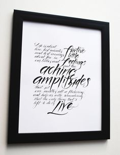Claire Gould calligraphy poem