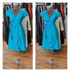 stunning Glamorous  Silk Wrap Party Dress