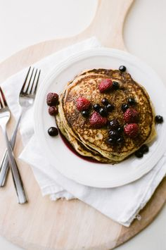 Cornmeal Pancakes add 1 tbsp toasted flax and substitute buttermilk with 3/4 plain yogurt and 1/4 almond milk.  Super good.