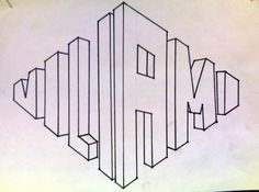 LssOn do this with my name Kunstunterricht Sekundarstufe kunstunterricht sekundarstufe schrift LssOn Linear Perspective Drawing, One Point Perspective, Perspective Art, Classroom Projects, Art Classroom, Graffiti, Middle School Art, Art School, High School