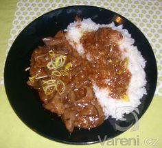 Rychlý a výborný recept z vepřových jatýrek. Chili, Grains, Soup, Beef, Cooking, Ethnic Recipes, Meat, Kitchen, Chile