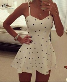 Sexy Spaghetti Strap Polka Dot Women's Dress Club Dresses | RoseGal.com Mobile