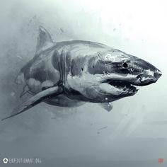 AE_BT_Shark, Thierry Doizon on ArtStation at https://www.artstation.com/artwork/ae_bt_shark