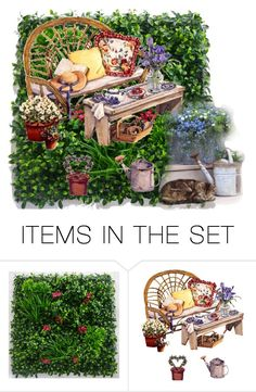 """""""garden"""" by ilenia-aretusi ❤ liked on Polyvore featuring art"""